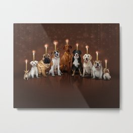Hot Dog, It's Hanukkah! Metal Print