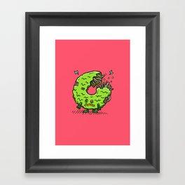 Zombie Donut 02 Framed Art Print