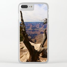 Grand Canyon View Through Dead Tree Clear iPhone Case