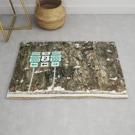 Vermont Route 100 Rug