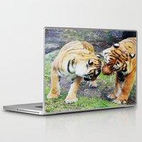 tigers Laptop & iPad Skins featuring Tigers by Irene Jaramillo