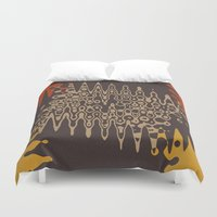 ethnic Duvet Covers featuring Ethnic by Sonia Marazia