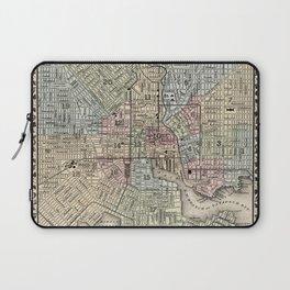 Map of Baltimore 1874 Laptop Sleeve