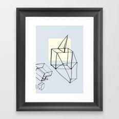 Punk in Paper Framed Art Print