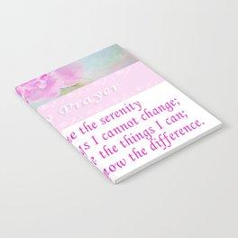 Serenity Prayer With Pink Peony Notebook