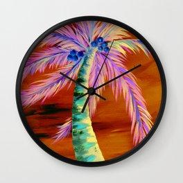 Palm Tree Art, Palm Tree Print, Coconuts, Beach Decor, Palm Beach, Home Decor, Beach Home Decor, Wall Clock