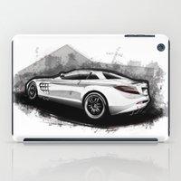 mercedes iPad Cases featuring Mercedes-Benz SLR McLaren 722 by an.artwrok