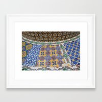mexican Framed Art Prints featuring Mexican Tiles by Renee Trudell