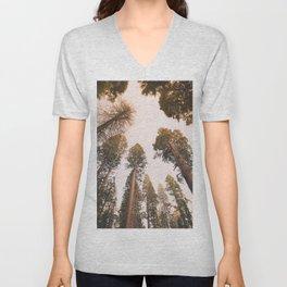 Sequoia Sunset Unisex V-Neck