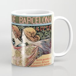 Vintage Art Nouveau expo Barcelona 1896 Coffee Mug