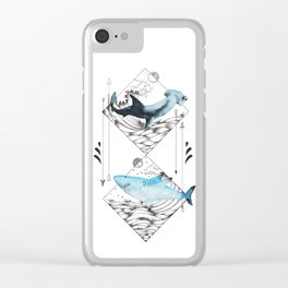 sharks on point Clear iPhone Case