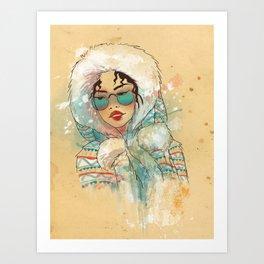 SNOW FASHION Art Print