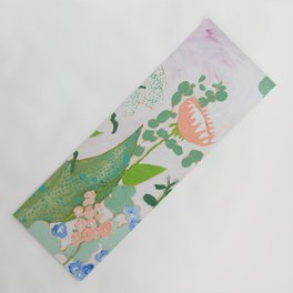Proteas and Birds of Paradise Painting Yoga Mat