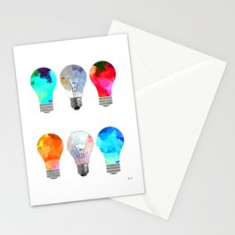 Light Bulbs Stationery Cards