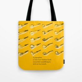 Wise Pipes Tote Bag