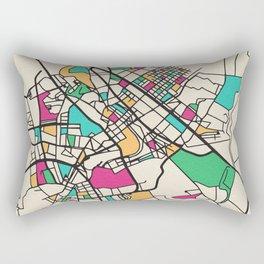 Colorful City Maps: Baghdad, Iraq Rectangular Pillow