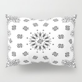 Bandana - White - Paisley - Southwestern Pillow Sham