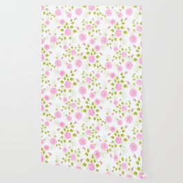 Pink flowers on a white background Wallpaper
