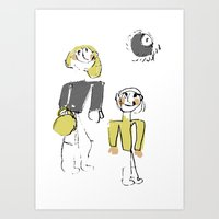 shopping Art Prints featuring shopping by Josephine Walz