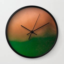 Invented creative and colorful landscape Wall Clock