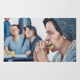 Jughead Jones Eats a Burger - Riverdale Rug