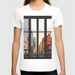 New York City Window #2-Surreal View Collage T-shirt