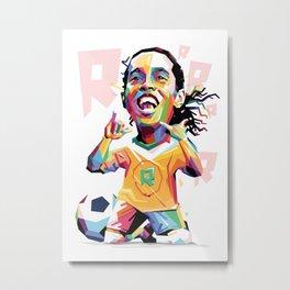 Ronaldinho Carricature WPAP Metal Print