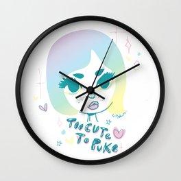 Too cute to puke Wall Clock