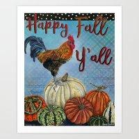 Happy Fall Y'all Art Print