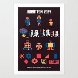 Robotron 2084 Art Poster Art Print