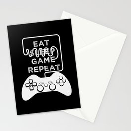 Eat Sleep Game Repeat Stationery Cards