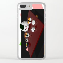 Kawaii sushi plate Clear iPhone Case