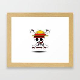 one piece skull simbol Framed Art Print