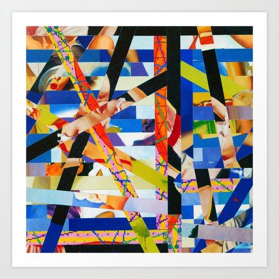 January (stripes 6) Art Print