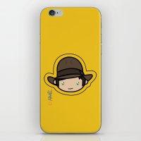 indiana jones iPhone & iPod Skins featuring Indiana Jones Kawaii by Aimee Liwag