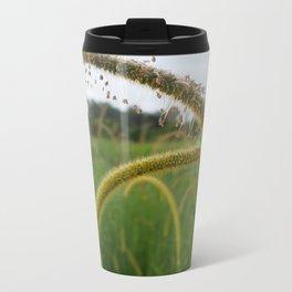 Finch Grass Flower Metal Travel Mug