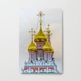 Golden domes Metal Print