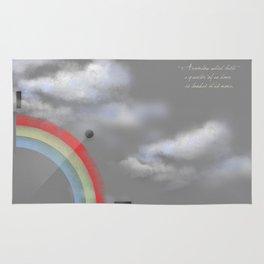 A quarter rainbow Rug
