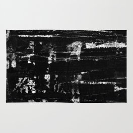 Distressed Grunge 102 in B&W Rug