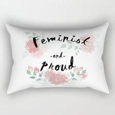 Feminist & Proud Rectangular Pillow