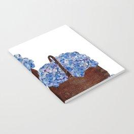 Two Baskets of Hydrangea Love Notebook