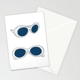 Blue Retro Sunglasses | 60s Mod Stationery Cards