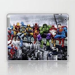 Superhero Lunch Atop A Skyscraper Laptop & iPad Skin