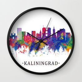 Kaliningrad Russia Skyline Wall Clock
