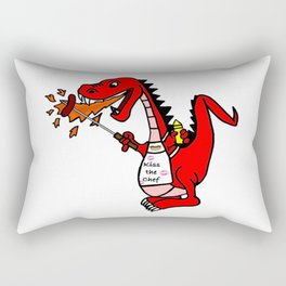 BBQ Dragon Rectangular Pillow