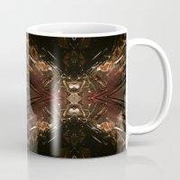 battlestar galactica Mugs featuring Galactica by Robin Curtiss