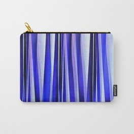Peace and Harmony Blue Striped Abstract Pattern Carry-All Pouch