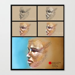 Looking at Guy Denning's works Canvas Print
