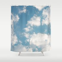 clouds Shower Curtains featuring Clouds by Rebekah Joan