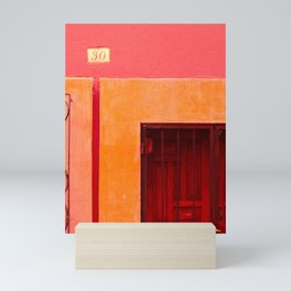 Casa 30 Pink and Orange - Street Photography Mexico Mini Art Print